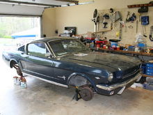 My Mustang in the Garage
