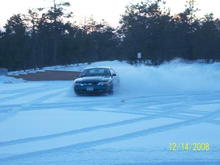Having some fun at a local school parking lot in the snow :)