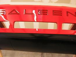 Rear bumper painted and Saleen wash airbrushed in black under clearcoat to match the #221 on the front bumper. Turned out great!