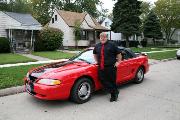 Tims stang, 1995 v6 convertable, 155k, home paint job.