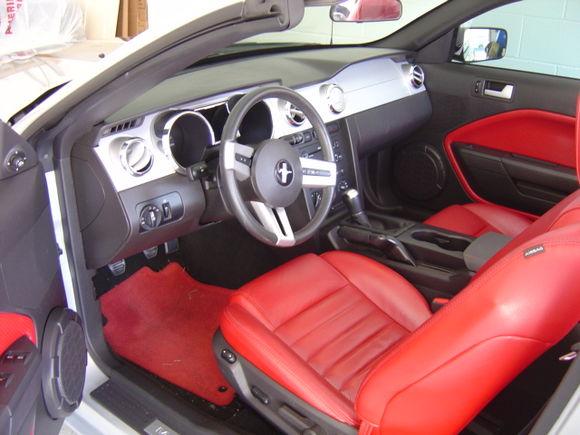 Rare red interior.