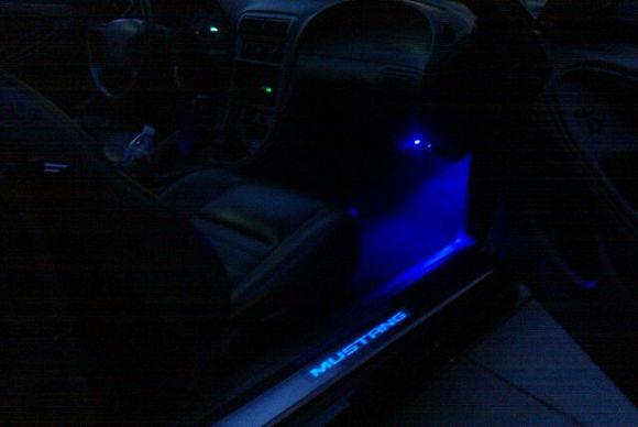 under dash lights illuminated door sills