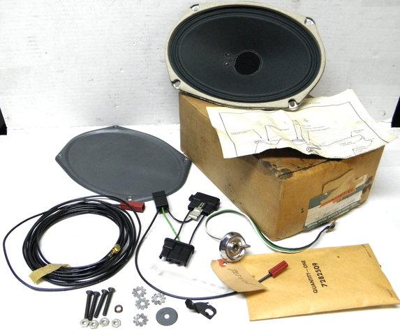 1963 64 Chevy Biscayne Bel Air Rear Seat Speaker