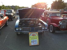 "Won ""Car of the Week"" award, Brusters Cruise In, Mooresville NC."