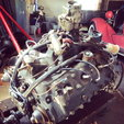 Running Ford flathead engine