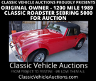 1200 mile Austin Healey Replica for Auction  for sale $9,000