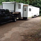 Enclosed trailer with living qt