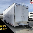 2019 United 8.5X28 Sprint Car Trailer Extra Height #5215