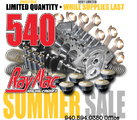 540 Short Block Kit, 11.0:1 Compression - Summer Sale/Cleara
