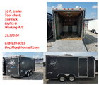 16ft QM/Kart Trailer With A/C