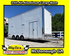 2019 Cargo Mate 8.5x24 ALL ALUMINUM Stacker w/ Full Floor Li