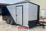 *NEW* 2020 8.5X16 Silver & Black Enclosed Cargo Trailer