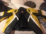 women racing jacket, vest and pants