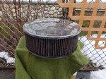 K&N Air filter and base