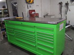 """Snap-On Extreme Green 73""""stainless top 17 drawer huge t"""