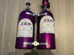 Dual zex 82000 10lbs nitrous bottle, bracket/electronic valv