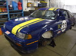 Honda CRX racecar, full parts car and aluminum trailer