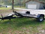 Hydraulic tilt deck trailer