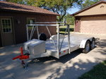 Open all Aluminum trailer