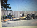 Top dragster and trailer