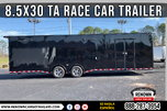 😎 8.5X30 TA Enclosed Race Car Trailer w/ Race Package  for Sale $29,899