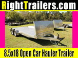 IN STOCK: 18ft ATC Aluminum Open Car Hauler w/ Extruded Deck