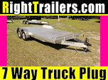 "18' Car Hauler with 6"" Front Rail"