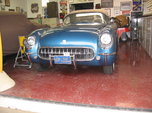 """1954 PENNANT BLUE """"GOLD CERTIFIED""""CORVETTE  for sale $85,000"""