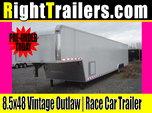 8.5x48 Vintage Outlaw | Race Car Trailer