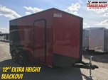 2020 Impact 7x14 Extra Height (Blackout) Go Cart Trailer