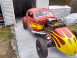 *** CRAZY RED VW RAT ROD ***