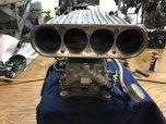 Holley 4 Barrel Double Pumper w/ California Custom Air Scoop