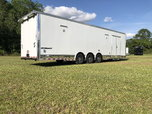 2021 32' White Race Trailer  for sale $23,000