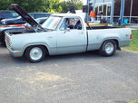 1976 Dodge D-100 Pro street.
