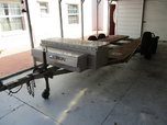 two axle trailer with brakes and toolboxes  for sale $1,100