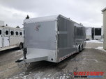 InTech 26' Aluminum Icon Package Race Trailer with Escape Do for Sale