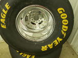 Mickey Thompson Rims and Goodyear Slick Tires  for sale $1,200