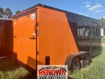 **NEW** 7X16TA Two-Tone BLACKOUT Enclosed Cargo Trailer  for sale $5,799
