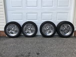 17inch 5lug Chevy American racing rims/tires and drag radial  for sale $975