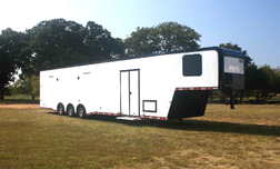 New 2021 44' Gooseneck Cont. Cargo Car Trailer w/Bath PKG