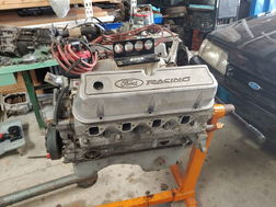 Small Block Ford 302 Aluminum Edelbrock Heads Intake MSD Dis  for sale $2,999
