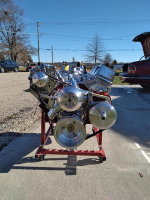 396 brutis show engine 510 hp