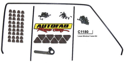 Autofab Lexan Window Mounting Kit For Fiberglass Doors