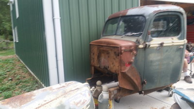 41 Ford pick up cab and hood