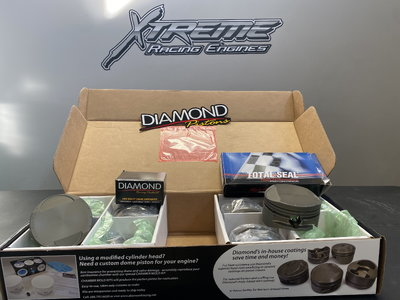 Custom Diamond Pistons for Noonan 4.900 Bore Hemi