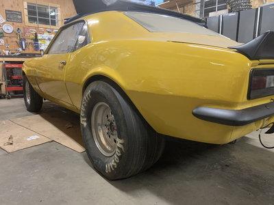 67 Camaro Race Car Rolling Cassis