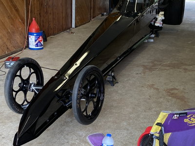 Divorce sale Mike Bos Top dragster blown