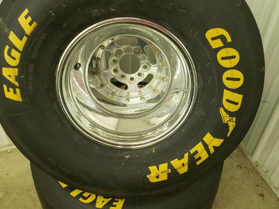Mickey Thompson Rims and Goodyear Slick Tires