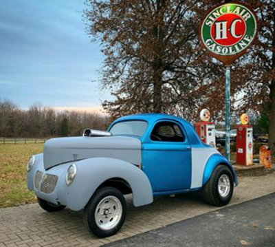 1940 Willys coupe blown gasser all steel with racing history