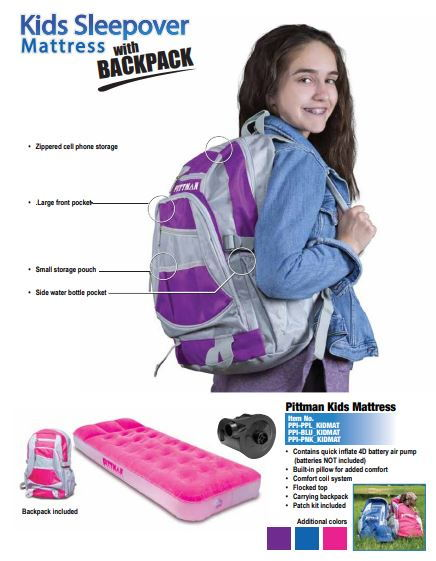 Backpack Mattress -Kids  for Sale $49